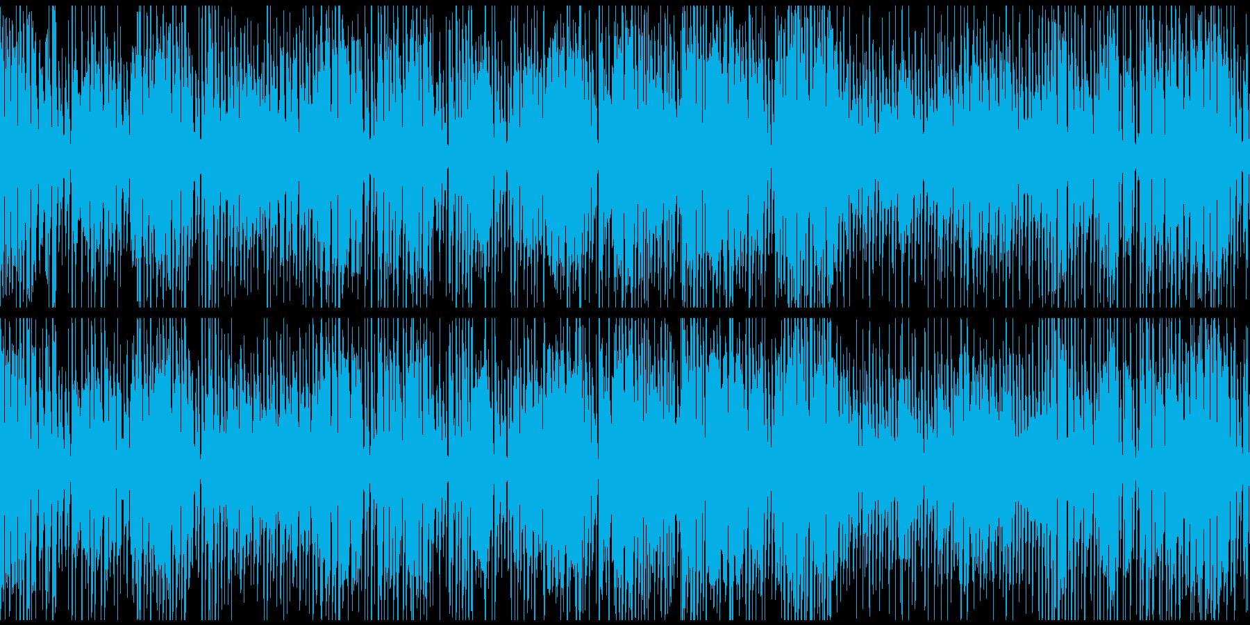 嬉しい気分の軽快ジプシージャズ※ループ版の再生済みの波形