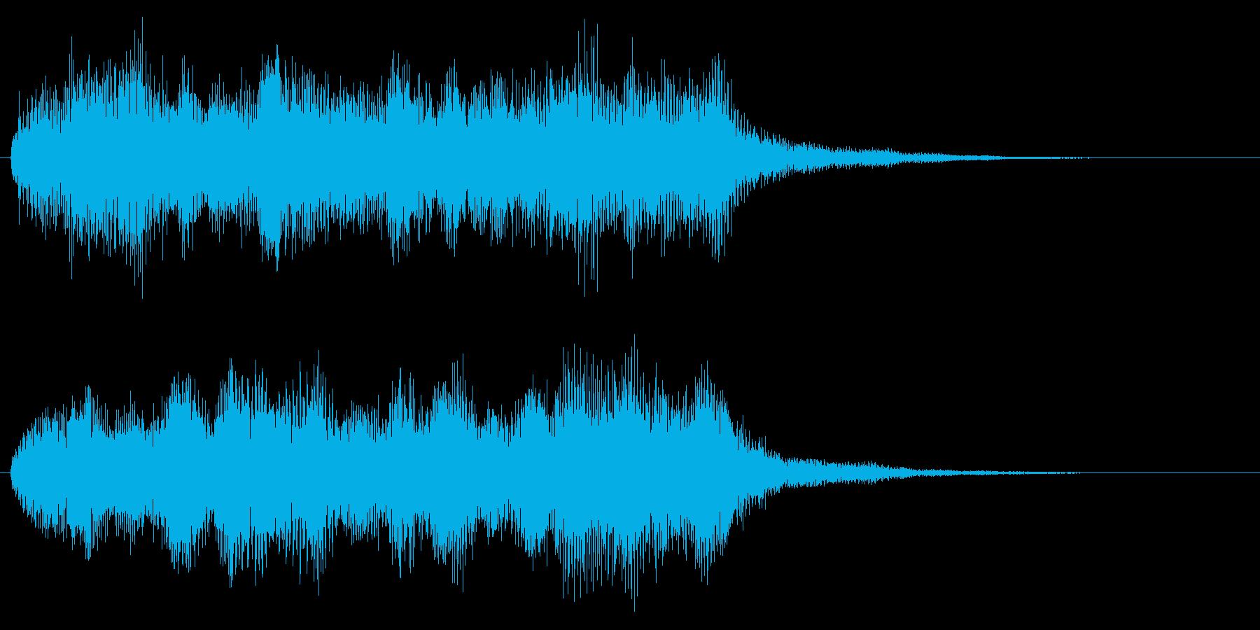 オーケストラ系のクリア音 レベルアップの再生済みの波形