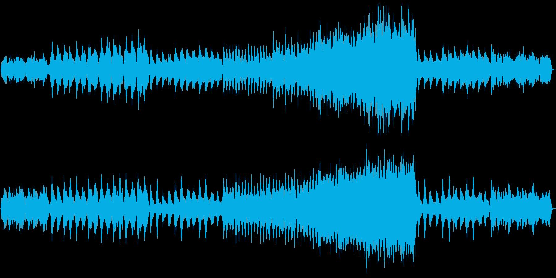 しっとりと幻想的な和風曲の再生済みの波形