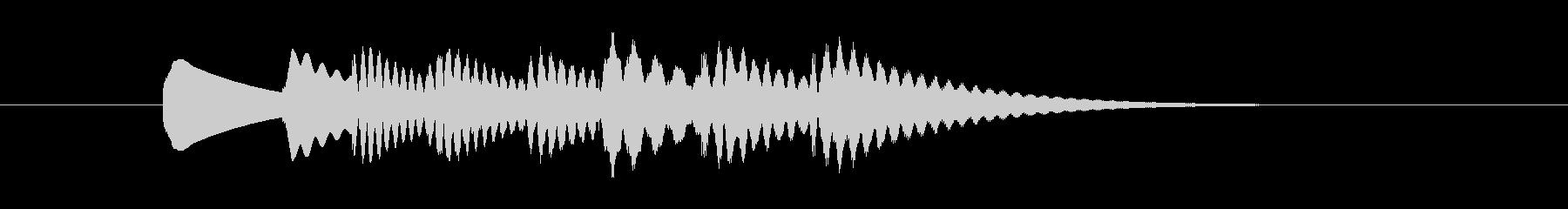 コミカルかつシンプルな場面転換の音その2の未再生の波形