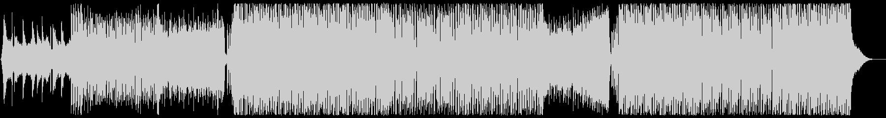 ドラマティックなフューチャーハウス歌なしの未再生の波形