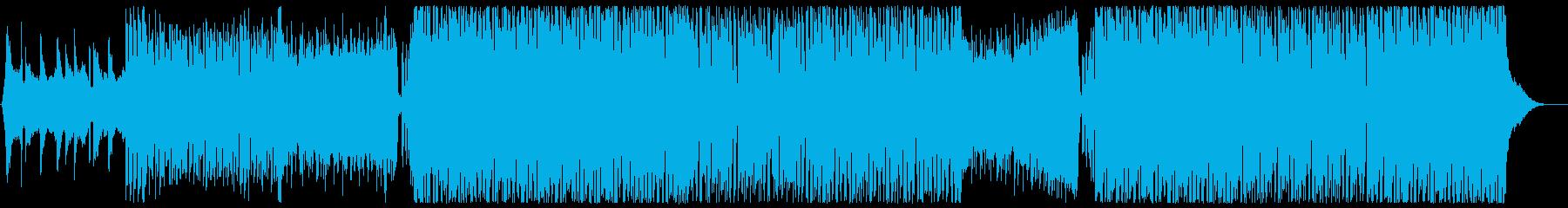 ドラマティックなフューチャーハウス歌なしの再生済みの波形