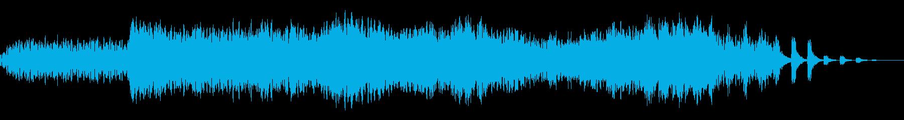 雪山、聖夜、オーロラをイメージした曲の再生済みの波形