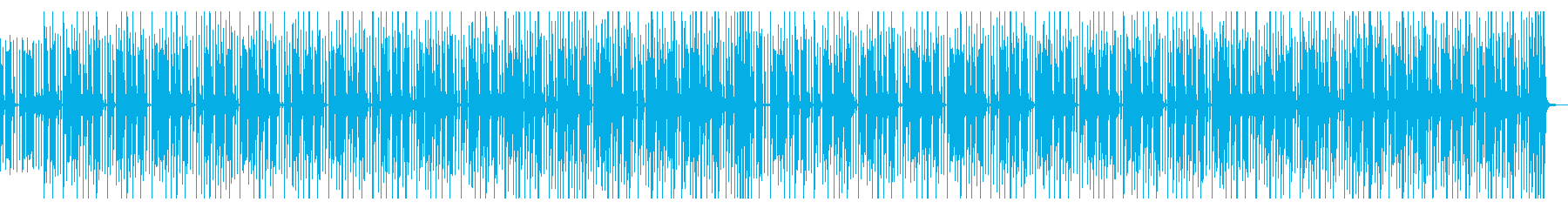8bitでビートがメインのチップチューンの再生済みの波形