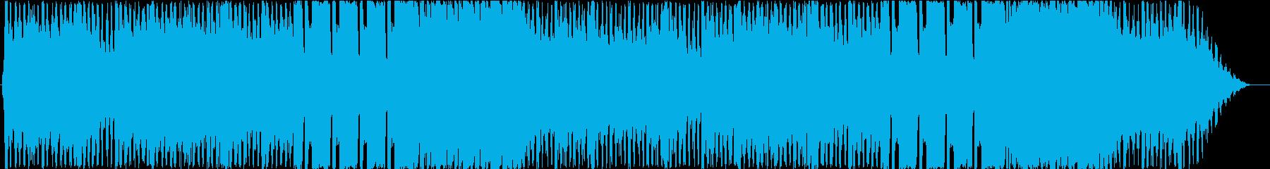 重厚で緊張感があるオーケストラの再生済みの波形