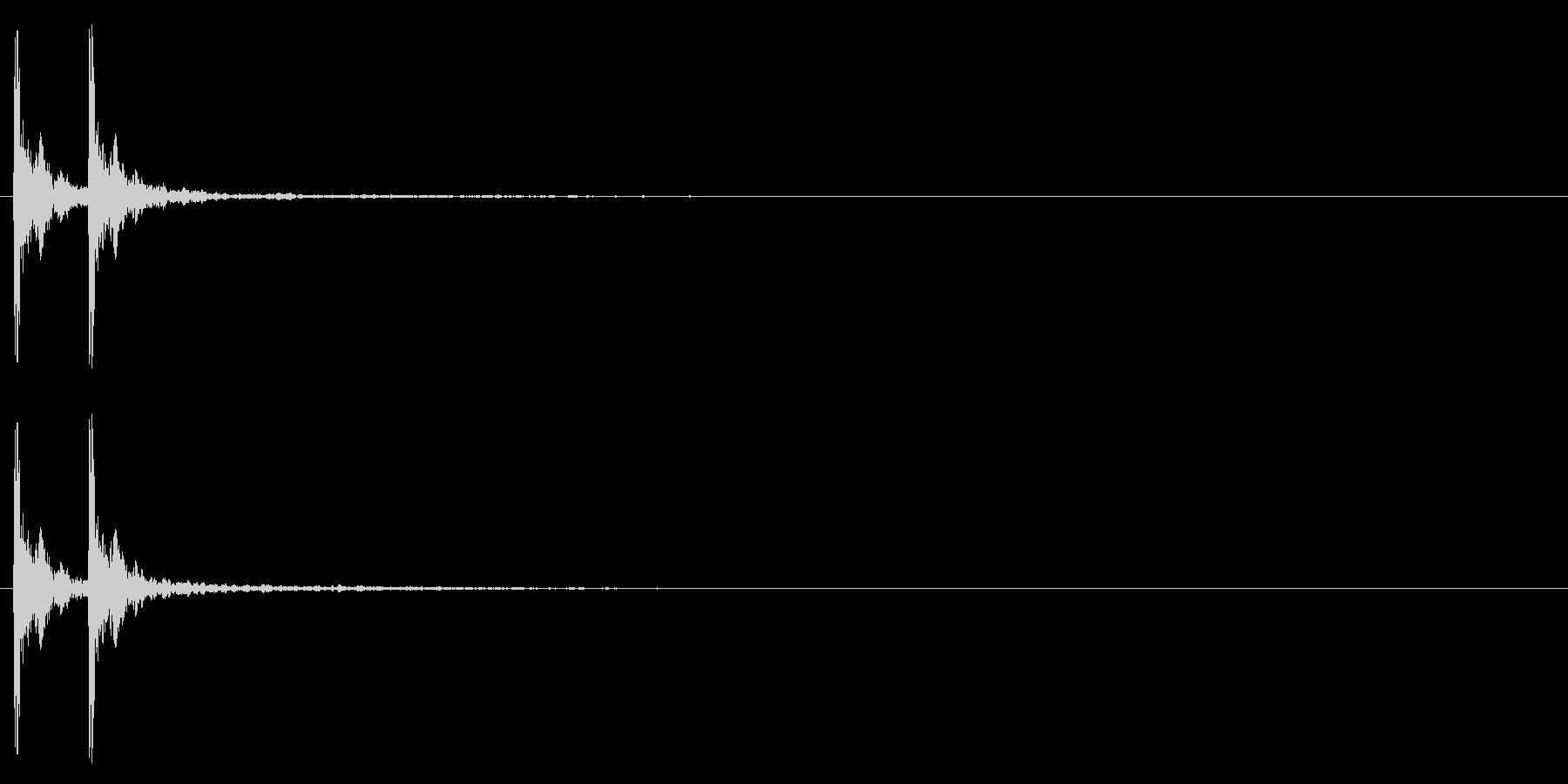 音侍「カカン」歌舞伎の拍子木の音リバーブの未再生の波形
