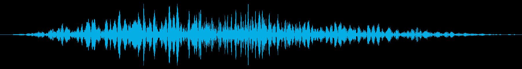 ワーム モンスター キャラタップ 考え中の再生済みの波形