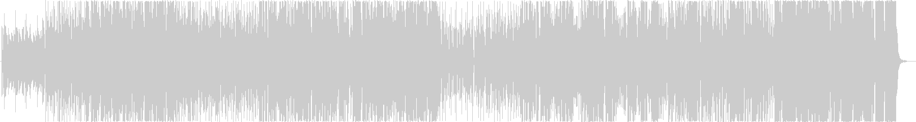ギターソロが特徴的なファンクサウンドの未再生の波形