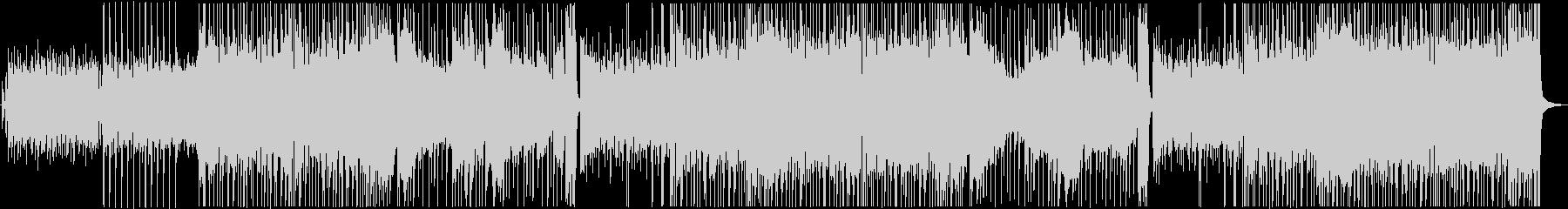 ドラムとベースのロックなBGMの未再生の波形