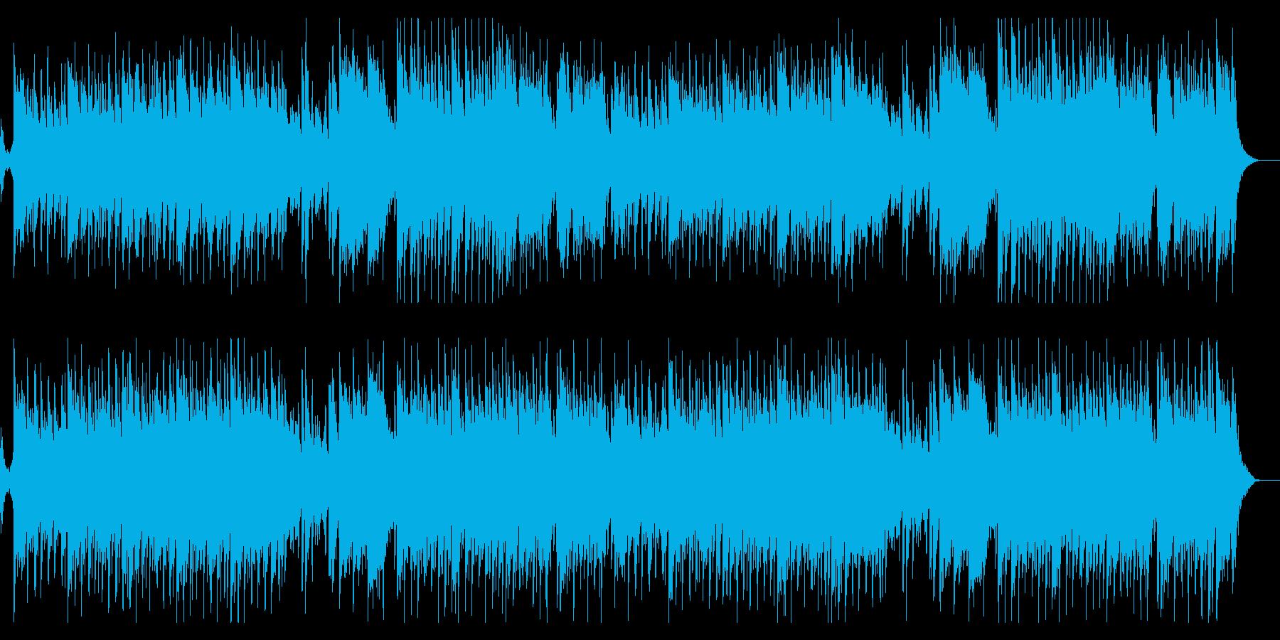 コミカルな悪魔族の城をイメージしたマーチの再生済みの波形