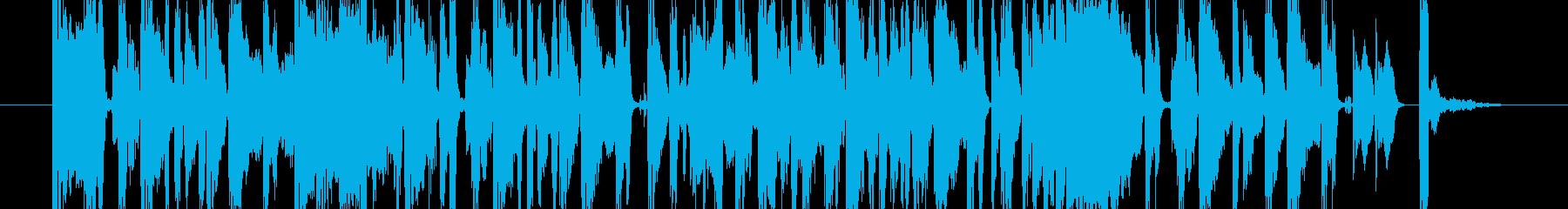 15秒CM向け!オシャレで軽快な楽曲!の再生済みの波形