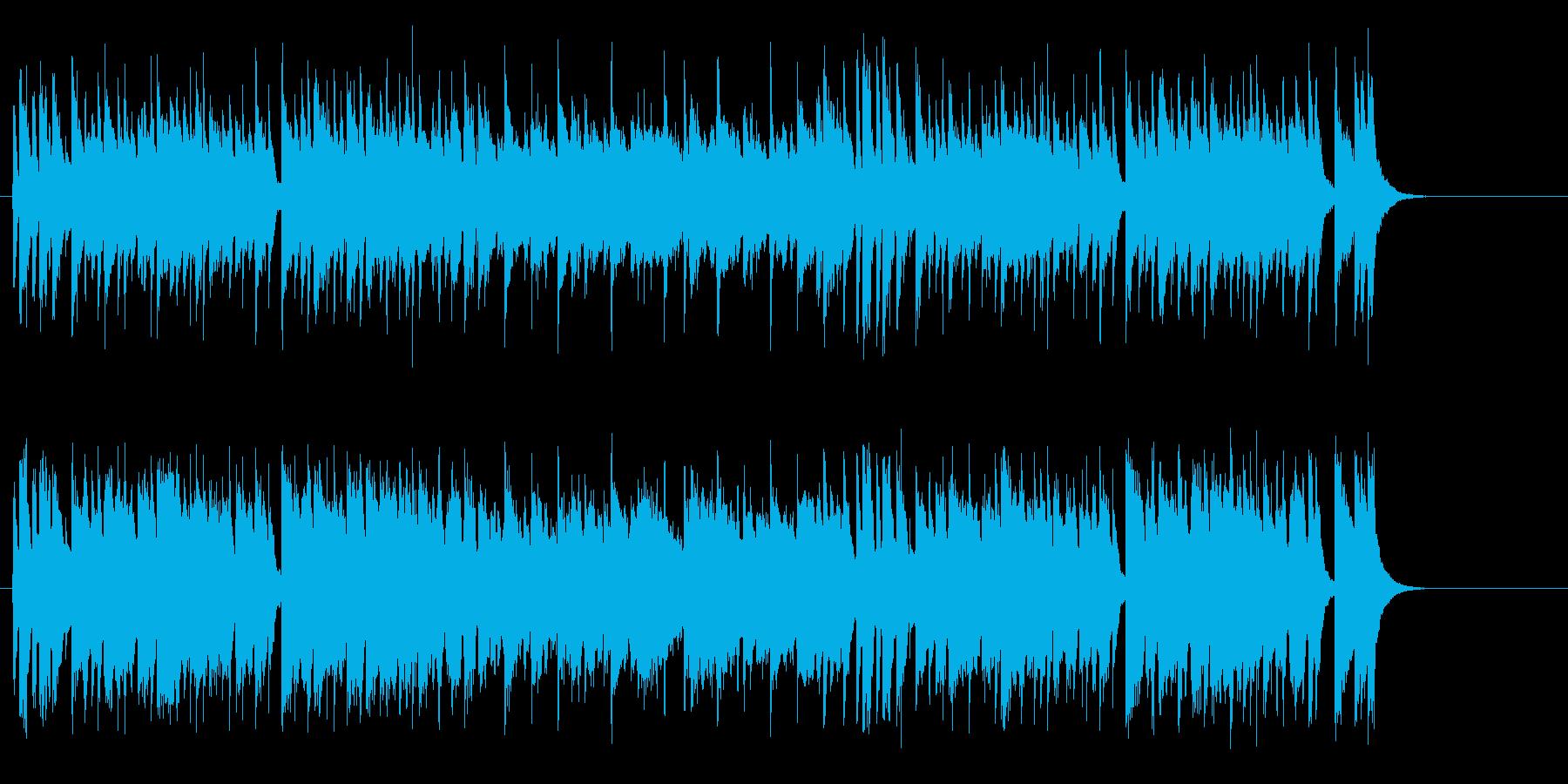 大らかで親しみやすい青春歌謡風ポップスの再生済みの波形