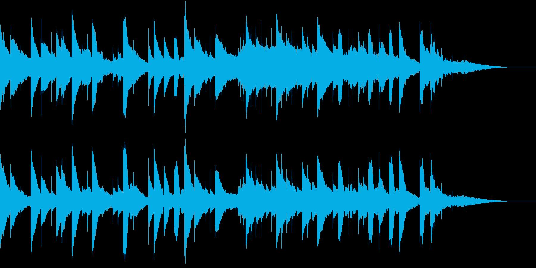 やさしい音色のオルゴールの再生済みの波形