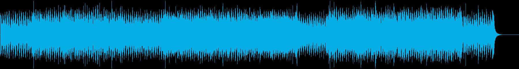 接戦するバトルシーンの緊迫した劇伴の再生済みの波形