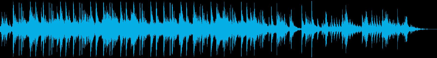 美しいピアノと重なり合う鳥の鳴き声の再生済みの波形
