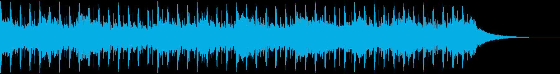 バックグラウンドインタビュー(30秒)の再生済みの波形