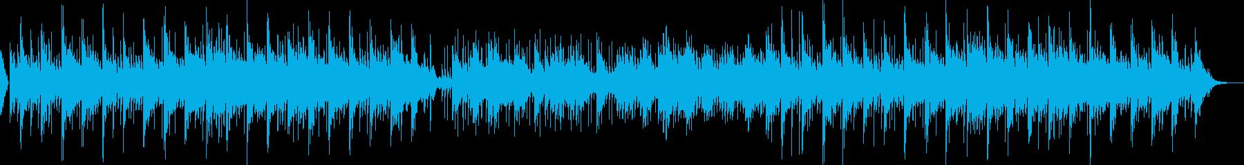 清らかな水をイメージした癒し・集中用の曲の再生済みの波形