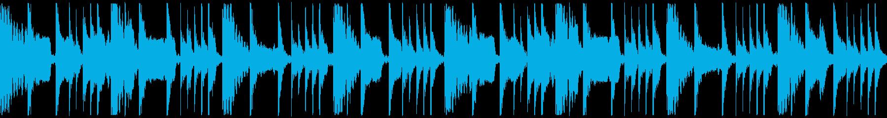 和太鼓、笛のループ楽曲の再生済みの波形