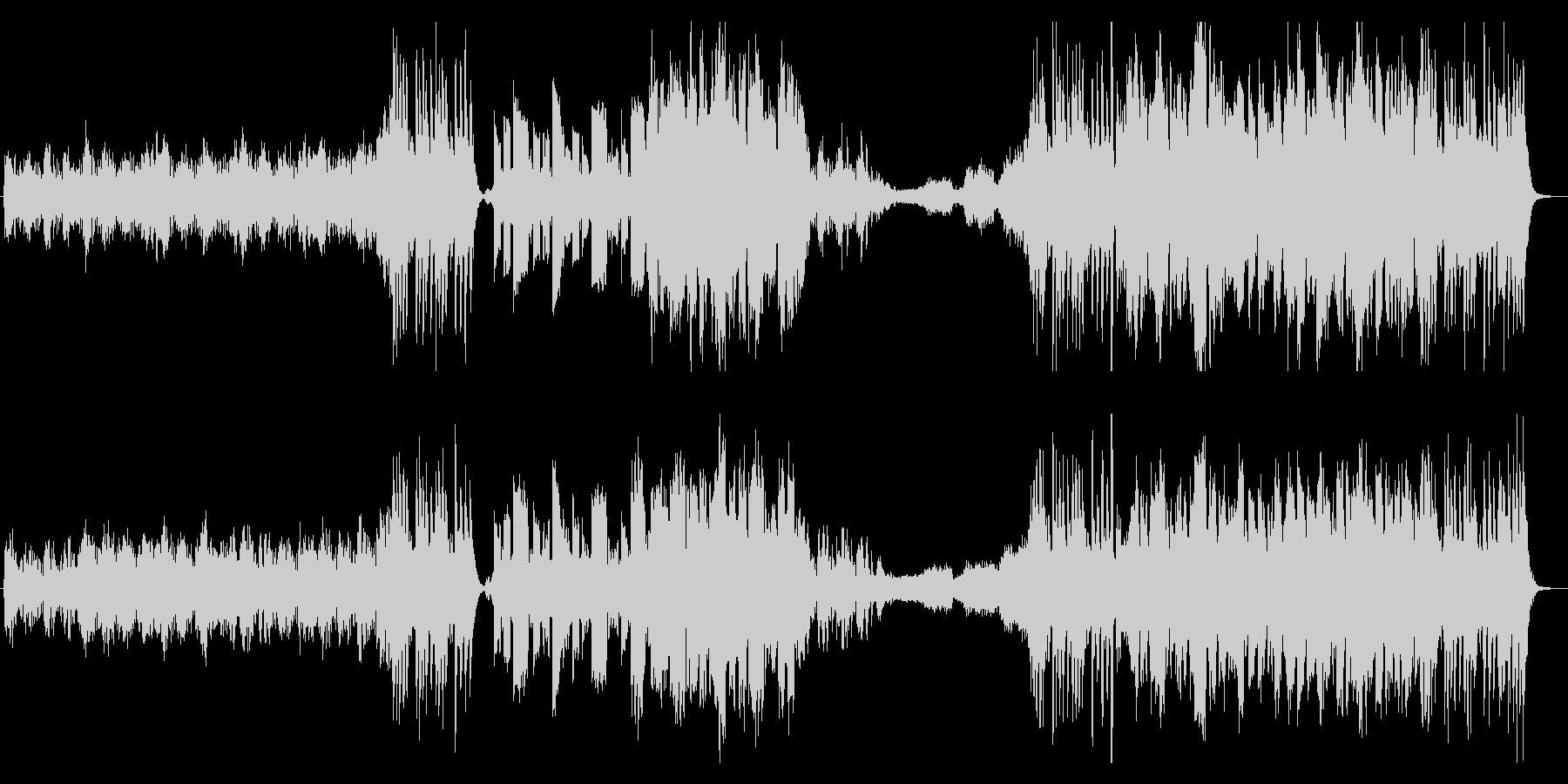 和楽器を取り入れたエピック風な曲の未再生の波形