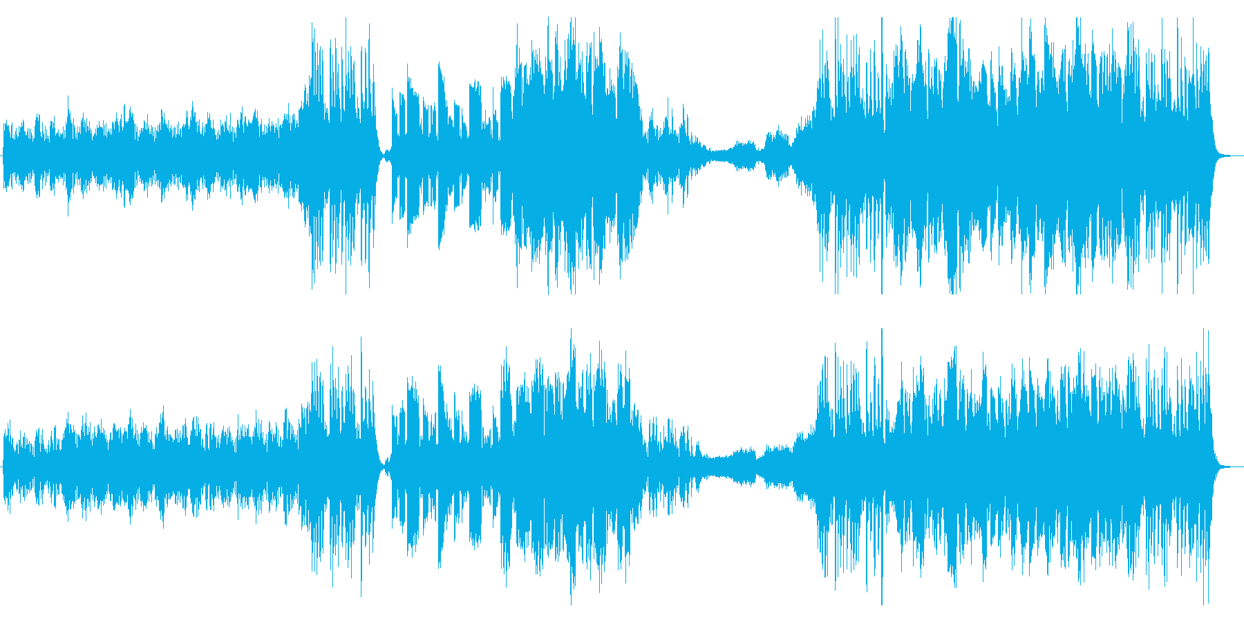 和楽器を取り入れたエピック風な曲の再生済みの波形