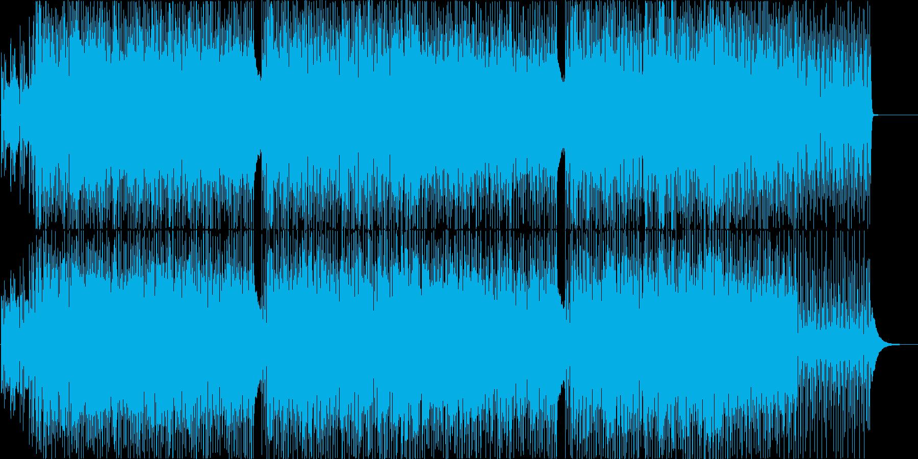 明るく楽しいハウス系ダンス曲の再生済みの波形