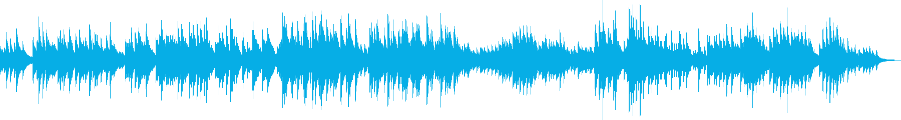 Heavy and sad piano solo song's reproduced waveform