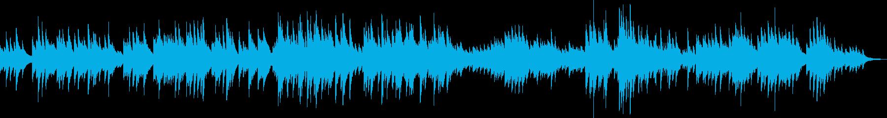 重く悲しいピアノソロ曲の再生済みの波形