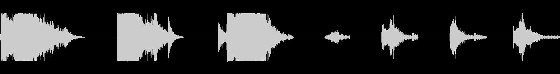 大型メタルドア:ラッチを外してスラ...の未再生の波形
