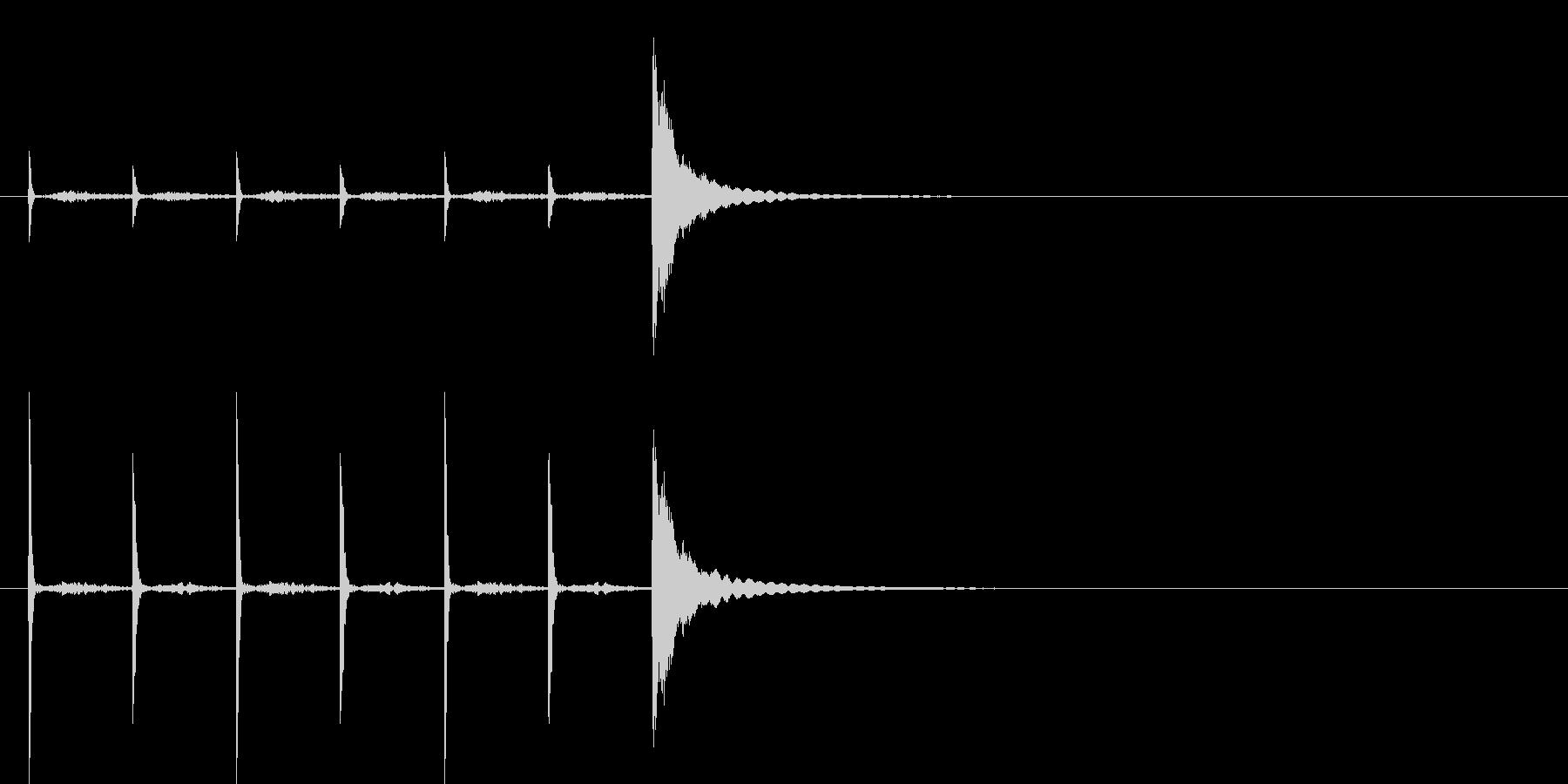 ポクポクチ~ン一休さん風シンキングタイムの未再生の波形