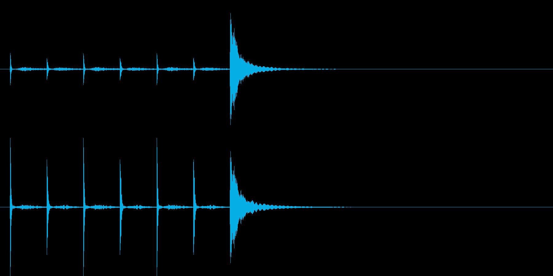 ポクポクチ~ン一休さん風シンキングタイムの再生済みの波形