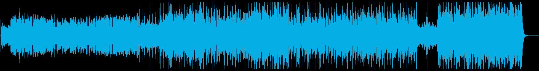 ケルト風の軽快なダンス曲の再生済みの波形