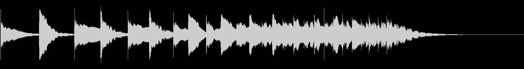 かわいいマリンバのジングル。転がる音。の未再生の波形