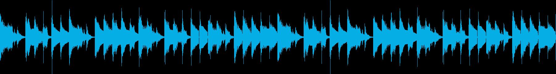 ノロノロな雰囲気のBGM ループ仕様#1の再生済みの波形