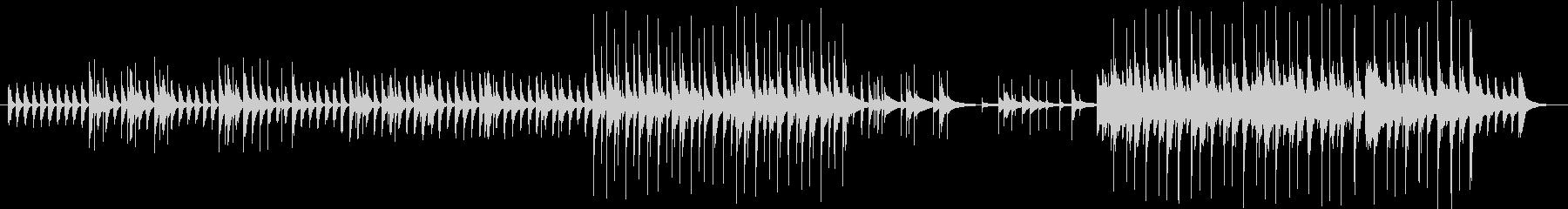 可愛らしいグロッケンサウンドの未再生の波形