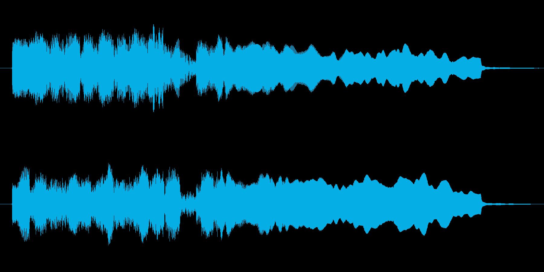 勝利や正解の時のファンファーレの再生済みの波形