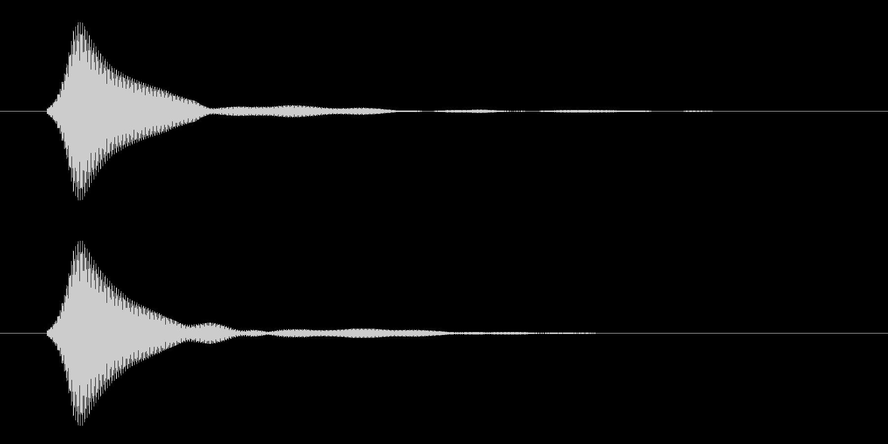 シンプルなボタン音6(ファン)の未再生の波形