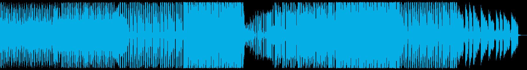 未来的なピアノトリオ調BGMの再生済みの波形