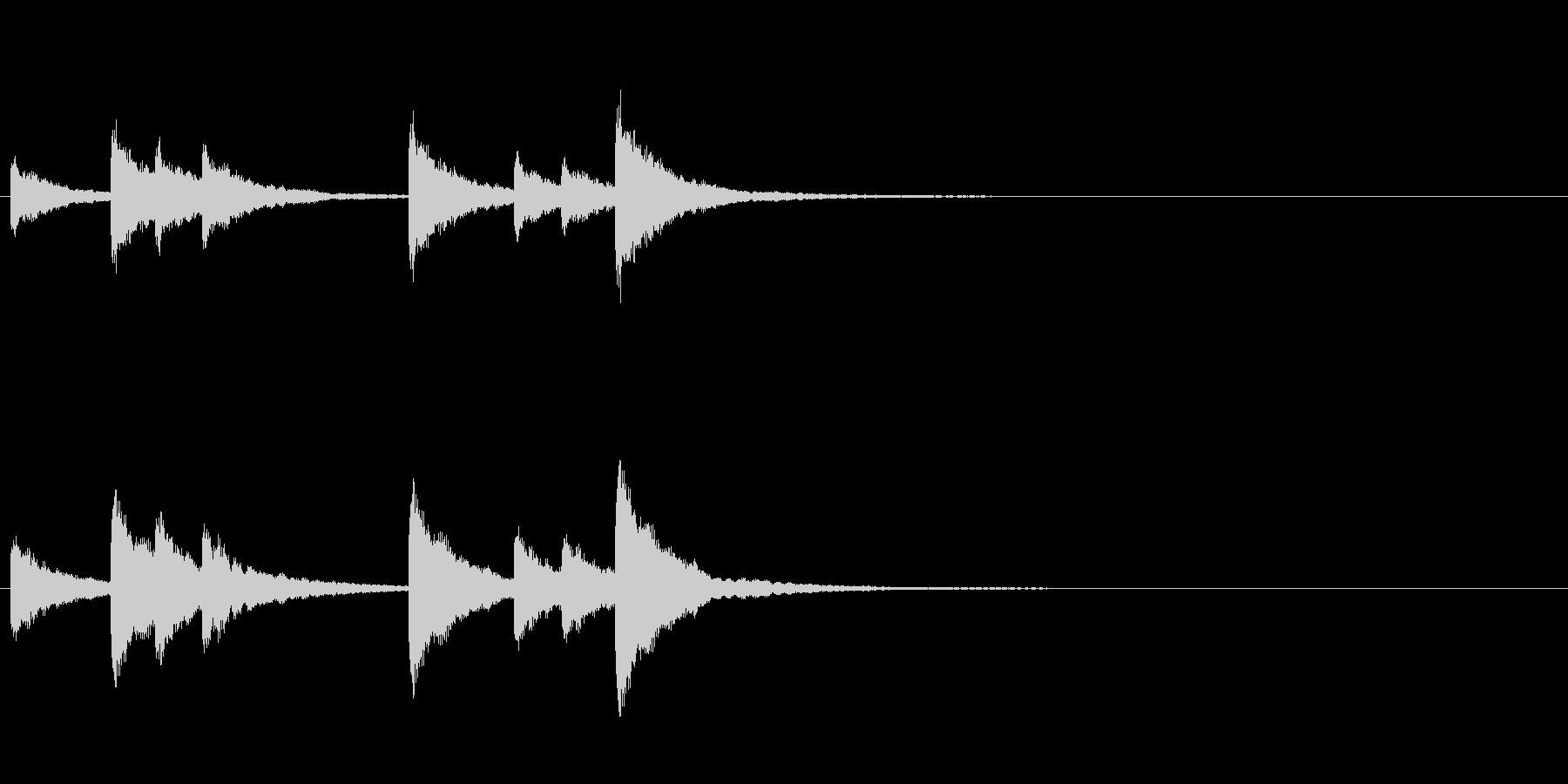 歌舞伎の吊るし鉦 双盤のフレーズ音+Fxの未再生の波形