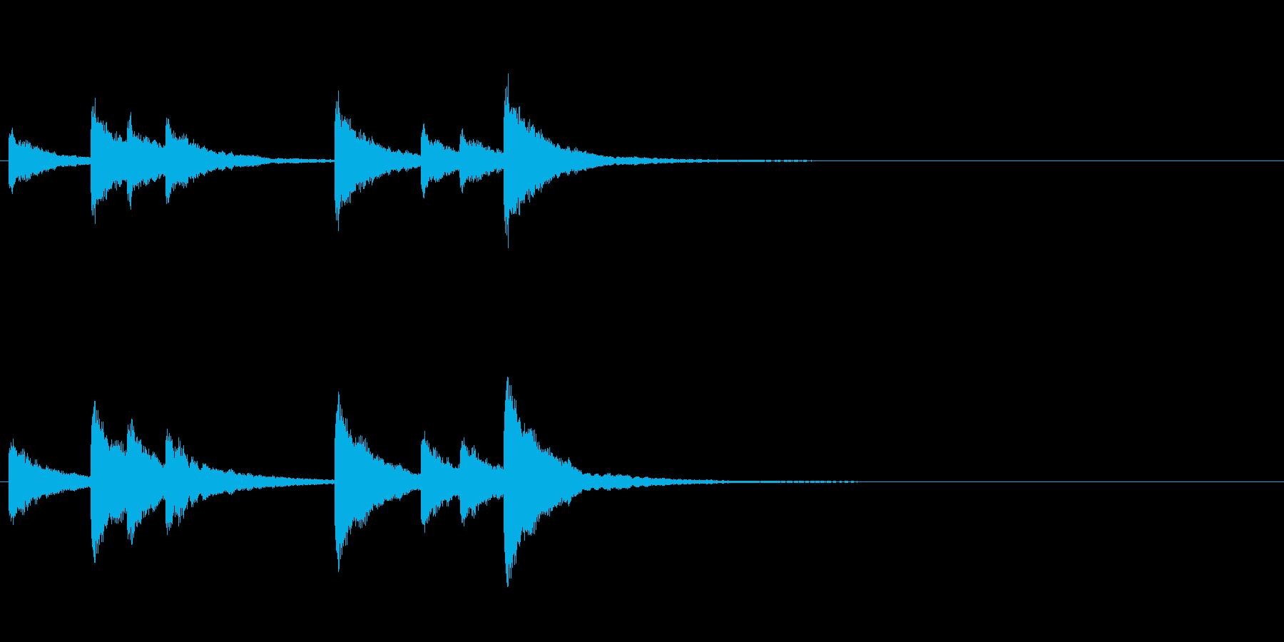歌舞伎の吊るし鉦 双盤のフレーズ音+Fxの再生済みの波形