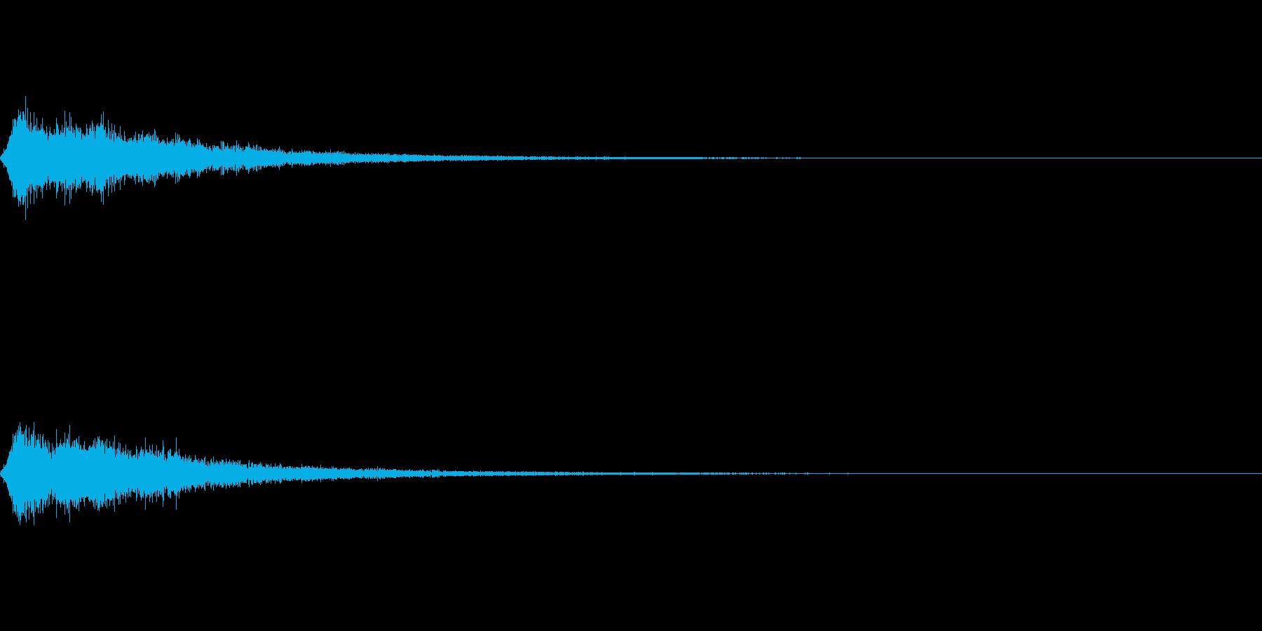 TVFX 風切り音 PR 目立たせSE4の再生済みの波形