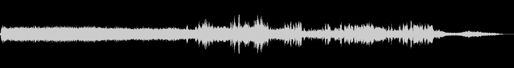 マシンソーバンドの未再生の波形