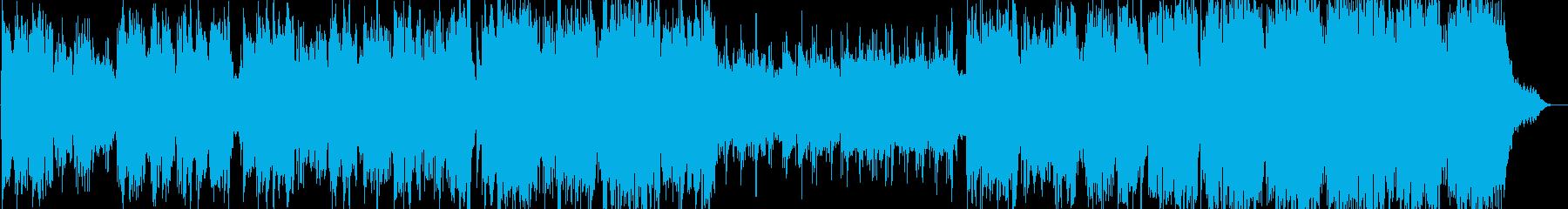 静かな森のヒーリング音楽の再生済みの波形