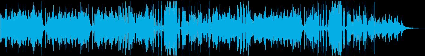 ピアノソロのビート感疾走感あるクール系の再生済みの波形