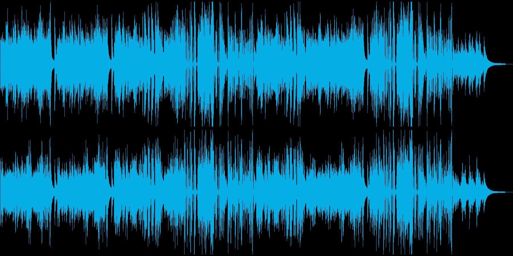 ピアノBGM ビート感あるクールなピアノの再生済みの波形