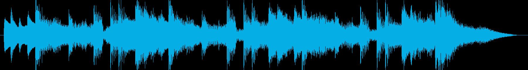 和風島唄風出囃子アイキャッチCM用BGMの再生済みの波形