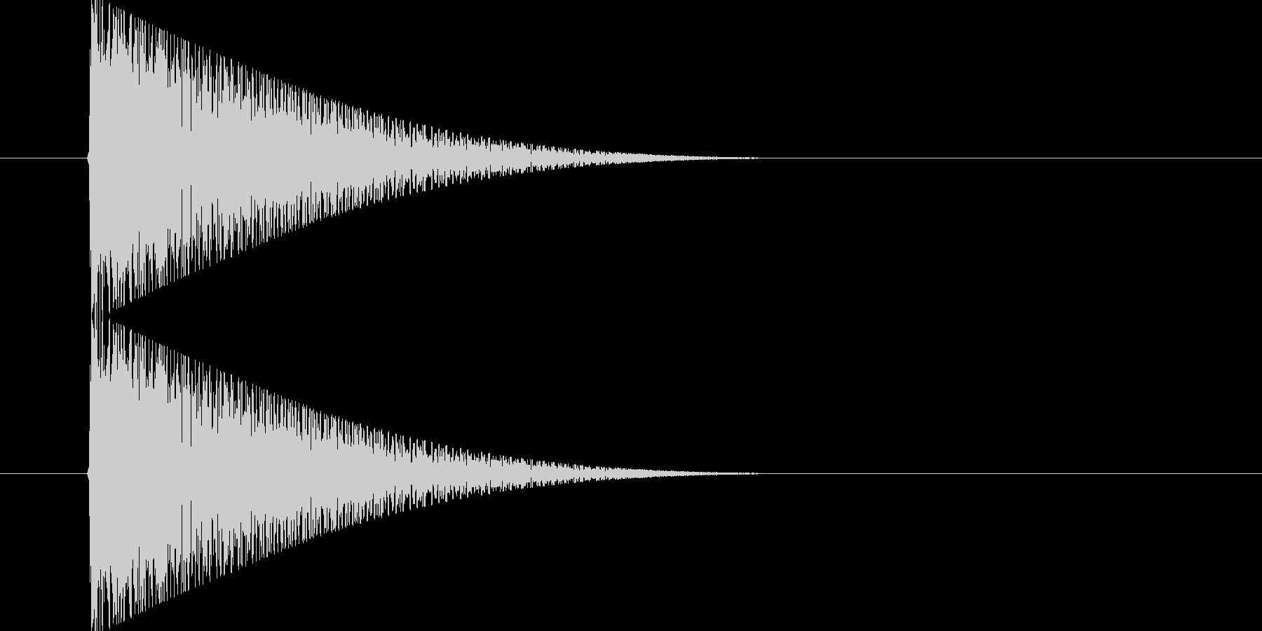 ポン(昔のゲームでの選択音)の未再生の波形