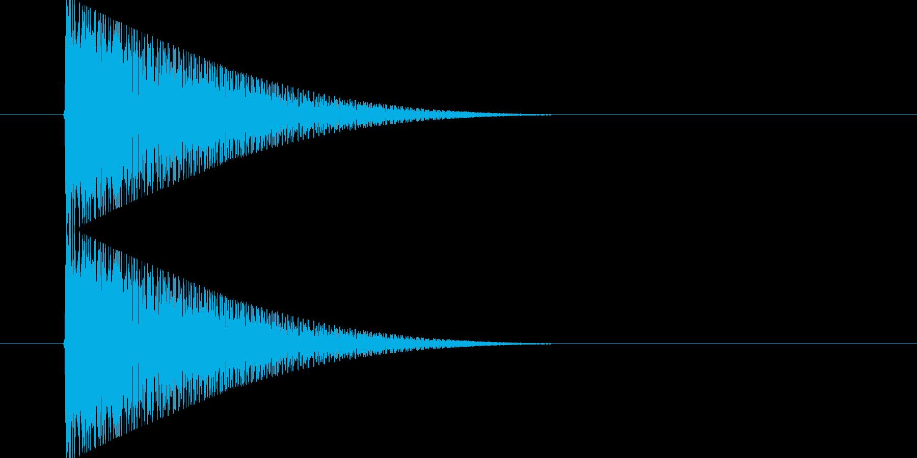 ポン(昔のゲームでの選択音)の再生済みの波形