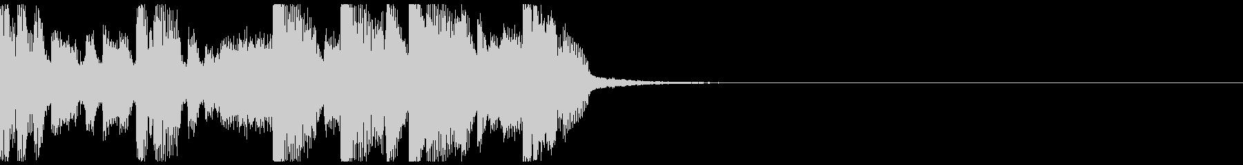 ハードダンスなジングルの未再生の波形