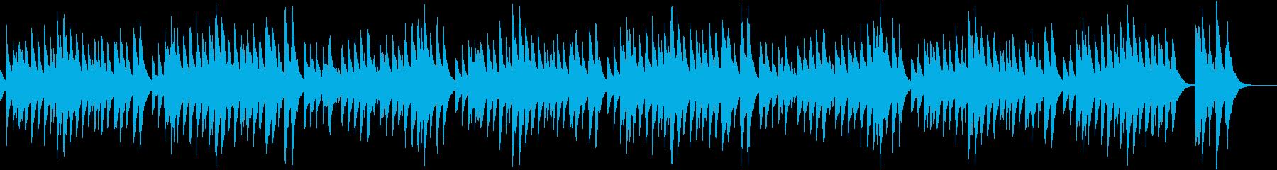 定番クリスマスソングのオルゴールAの再生済みの波形