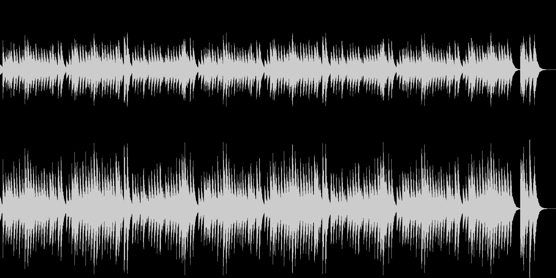 定番クリスマスソングのオルゴールAの未再生の波形